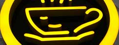 LED Epoxy Resin Front-lit Coffee Bar Signs