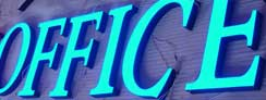 LED Epoxy Resin Front-lit Office Signs