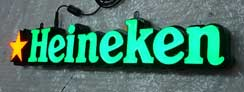 LED Epoxy Resin Tooling Made Front-lit Signs for Heineken