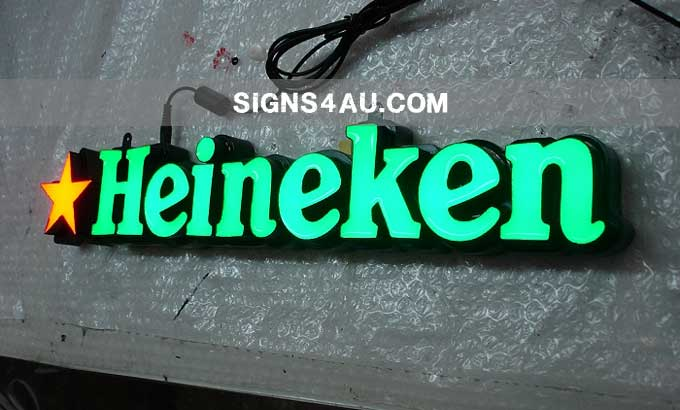 """led-epoxy-resin-tooling-made-front-lit-signs-for-heineken"""""""