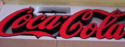 LED Epoxy Resin Tooling Made Front-lit Signs for Coca-Cola
